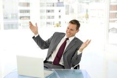 Homem de negócios esperto Foto de Stock Royalty Free