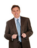 Homem de negócios esperto com sorriso Fotos de Stock