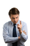 Homem de negócios estrito Imagem de Stock