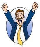 Homem de negócios Excited fotografia de stock royalty free