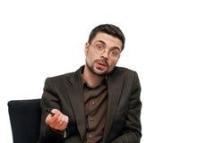 Homem de negócios falador Imagem de Stock Royalty Free
