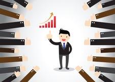 Homem de negócios Feedback Concept Fotografia de Stock