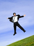 Homem de negócios feliz foto de stock