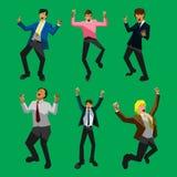 Homem de negócios feliz Ilustração Stock