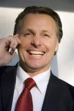 Homem de negócios feliz Fotos de Stock Royalty Free