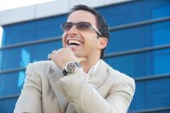 Homem de negócios feliz Imagem de Stock Royalty Free