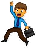Homem de negócios feliz Clip Art Ilustração do vetor ilustração royalty free