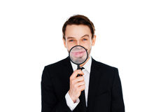 Homem de negócios feliz com um sorriso grande Imagens de Stock Royalty Free