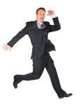 Homem de negócios feliz dinâmico Fotos de Stock Royalty Free