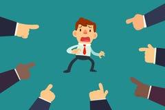 Homem de negócios With Fingers Pointing nele Imagem de Stock