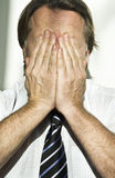 Homem de negócios forçado fotos de stock royalty free