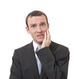 Homem de negócios forçado Fotografia de Stock Royalty Free