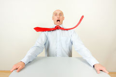 Homem de negócios forçado Foto de Stock