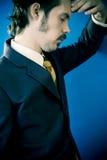 Homem de negócios forçado Imagens de Stock Royalty Free