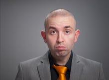Homem de negócios forçado Fotos de Stock