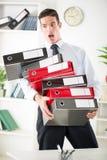 Homem de negócios forçado Imagem de Stock Royalty Free