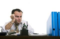 Homem de negócios forçado & frustrante Imagens de Stock Royalty Free