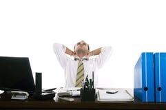 Homem de negócios forçado & frustrante Imagens de Stock