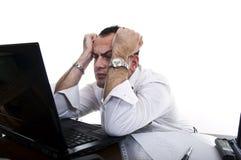 Homem de negócios forçado & frustrante Fotos de Stock Royalty Free