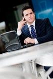 Homem de negócios fora Foto de Stock Royalty Free