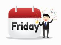 Homem de negócios Friday Concept Imagens de Stock Royalty Free