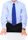 Homem de negócios frustrante em uma reunião Foto de Stock
