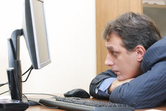 Homem de negócios furado Foto de Stock
