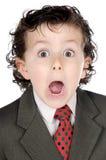 Homem de negócios futuro adorável imagens de stock royalty free