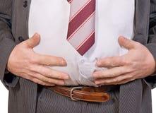 Homem de negócios gordo Fotografia de Stock Royalty Free