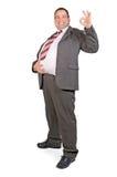 Homem de negócios gordo alegre Imagem de Stock Royalty Free