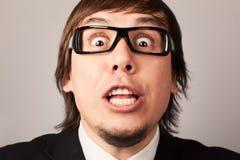 Homem de negócios gritando Imagens de Stock