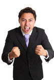 Homem de negócios gritando Fotos de Stock Royalty Free