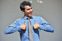 Homem de negócios And Happiness Fotografia de Stock Royalty Free