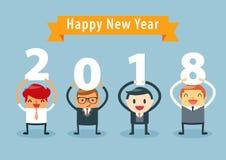 Homem de negócios Happy New Year ilustração royalty free