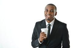 Homem de negócios Holding Beverage Fotos de Stock