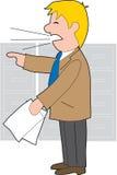 Homem de negócios irritado Imagem de Stock