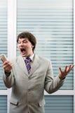 Homem de negócios irritado foto de stock