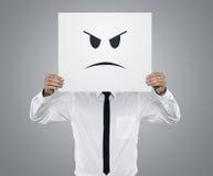 Homem de negócios irritado Foto de Stock Royalty Free
