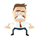 Homem de negócios irritado Imagens de Stock Royalty Free