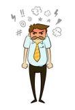 Homem de negócios irritado ilustração royalty free