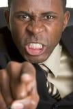 Homem de negócios irritado Imagem de Stock Royalty Free