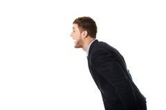 Homem de negócios irritado que grita Imagem de Stock Royalty Free