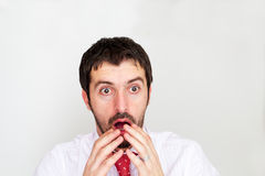 Homem de negócios surpreendido com Fotografia de Stock