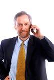 Homem de negócios isolado no branco Imagem de Stock