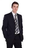 Homem de negócios isolado no branco Fotos de Stock Royalty Free