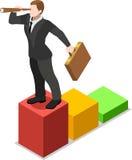Homem de negócios isométrico Sale Lead Bank Foto de Stock