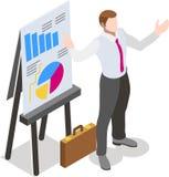 Homem de negócios isométrico Sale Lead Bank Imagens de Stock Royalty Free