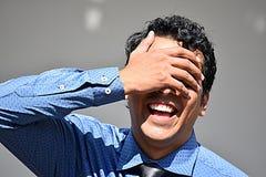 Homem de negócios latino-americano And Laughter fotos de stock royalty free