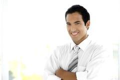 Homem de negócios latino-americano novo Fotos de Stock Royalty Free