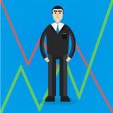 Homem de negócios liso Imagens de Stock
